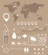 Stock Illustration of weather infographic