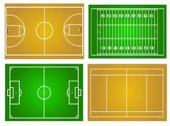 sport fields - stock illustration