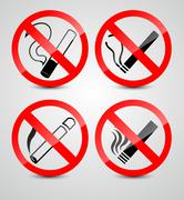 No smoking symbols Stock Illustration