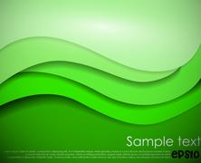 green abstract background - stock illustration