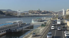 Elisabeth Bridge Budapest Stock Footage