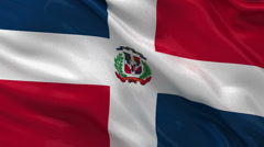 Flag of the Dominican Republic - seamless loop Stock Footage