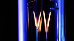 Light bulb flickering. - stock footage