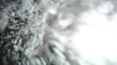 Bubbles rush and flurry in this underwater scene._ Stock Footage