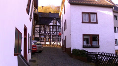 Houses of old German towns (Bad Munstereifel). Stock Footage