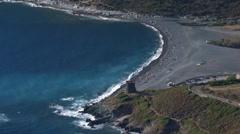 Aerial corsica beach Nonza Stock Footage