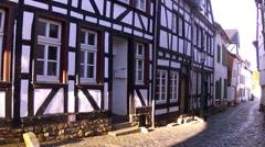 Houses of old German towns (Bad Munstereifel). Stock Footage