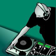 DJ Mixing Musiikki Piirros