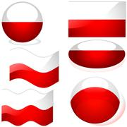 Flags Poland - stock illustration