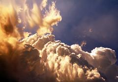 Sunny Clouds Background - stock photo