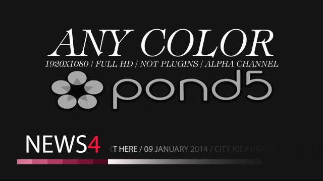 After Effects Project - Pond5 News lower third 8 Any Color 33878167