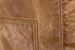 Stitching on leather jacket Stock Photos