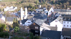View of the German small town Bad Munstereifel. Stock Footage
