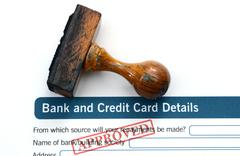 Bank application - approved Stock Photos