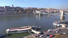 River Danube Budapest Stock Footage