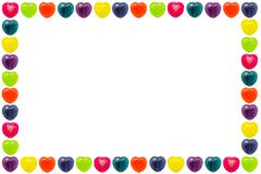 Heart Candy Border - stock photo