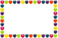 Stock Photo of Heart Candy Border