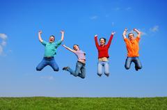 People jumping Stock Photos