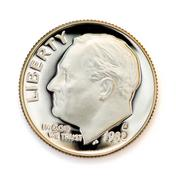 perfect uncirculated coin - stock photo