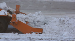 Winter Snow Removal 03 Stock Footage