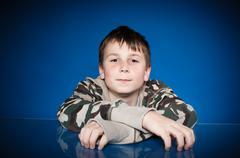 portrait of a cute teen - stock photo