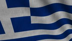 Greece Flag transition LtoR with Alpha/Matte - stock footage