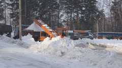 Winter Snow Removal 01 Stock Footage