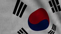 South Korea Flag transition LtoR with Alpha/Matte - stock footage