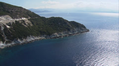 Aerial corsica coast cap corse Stock Footage