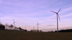 Wind turbine in the field in the Eifel. Stock Footage