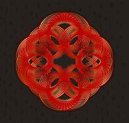 Geometric design element in art nouveau style Stock Illustration