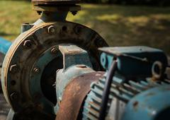 Old rust water pump Stock Photos
