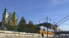 Tram Stop Budapest Stock Footage
