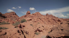 The mountains of the Valley of Fire state park, Nevada Stock Footage