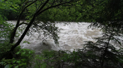 Floods river Stock Footage