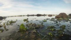 Tide coming in camera submergered 02 Stock Footage