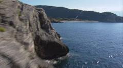 Aerial corsica coast patrimonio Stock Footage
