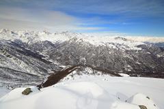 Alpine cloudscape Stock Photos