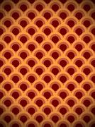 Stock Illustration of brown circle vintage pattern