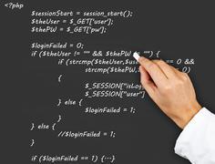 Stock Photo of source code