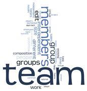 Stock Illustration of team word cloud
