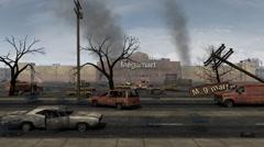 Store Apocalypse Scene Stock Footage