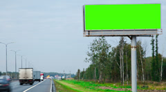Billboard green screen time-lapse Stock Footage
