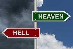 Stock Illustration of heaven versus hell