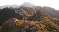Great Wall in disrepair Jiankou nr Beijing, China, Asia Stock Footage