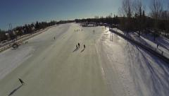 Ottawa Canada - Winter on the Rideau Canal Stock Footage