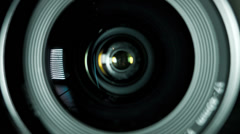 Camera photo lens. - stock footage