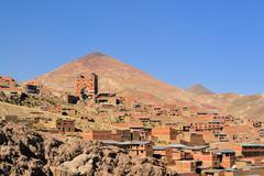 Cerro Rico mountain with silver mines Stock Photos