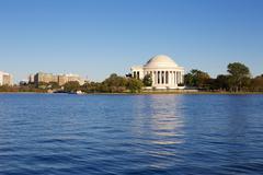 Jefferson Memorial across the Lake - stock photo