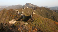 Rural portion of the Great Wall Jiankou nr Beijing, China Stock Footage